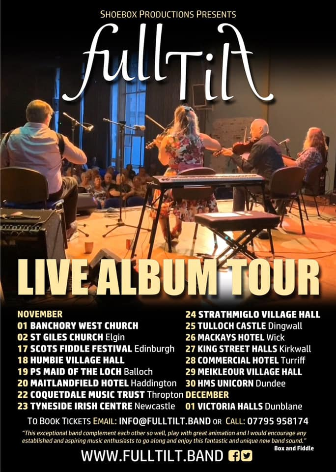 Full Tilt Band Live Album Tour